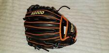 """Wilson A2000 Baseball Glove Mitt 1788A 11.25"""" Black Orange Infielders LHT"""