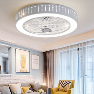 Ceiling Fan Light Remote Control LED Lamp Dimmable Bedroom Office Modern