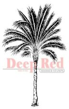 Deep Red Stamps Palm Tree Rubber Cling Stamp