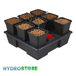 Wilma Large 8 Pot System with 6 Litre Pots. Hydroponics.