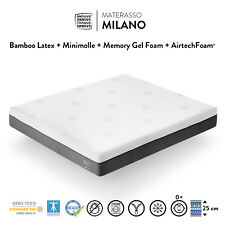 MATERASSO MEMORY FOAM GEL LATTICE MINI MOLLE MATRIMONIALE H 25cm 160x190 160x200