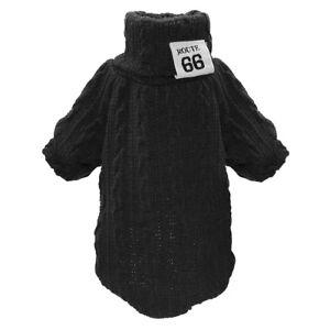 Hand Knit Dog Sweater Girl Boy Puppy Pet Clothes Knitwear Cat Jumper Coat XS-L