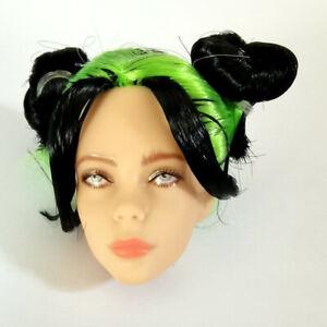 "Doll Head Replacement for 10.5"" Billie Eilish Doll LA Live BIN"