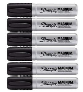 Sharpie Magnum Permanent Marker, Black, 6 PACK 44001