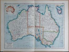 1920 MAP -POST WW1- AUSTRALIA GENERAL MAP, INSET TASMANIA