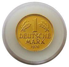 1 DM 24 Karat vergoldet incl. Kapsel zum 40. 50. 60. Geburtstag/goldene Hochzeit