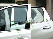 8 Pcs Stainless Window Frame Door Pillar B Post Protector for Nissan X-trail T32