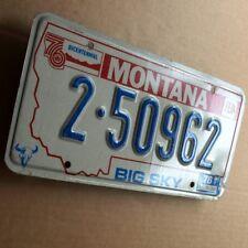 Montana 1976 antiguo chapa matrícula original EE. UU. license plate 2-50962 Big Sky