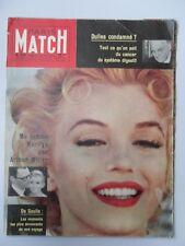 Paris Match N° 516 MARILYN MONROE NICOLE COURCEL LUDMILLA TCHERINA MARCHAND