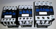 Motor contactor, 12, 18 or 32 amp 3 pole, different coil voltages available