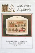 Little House Needleworks Hometown Holiday The Tree Lot Cross Stitch Chart