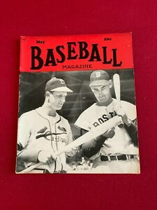 """1949, Ted Williams / Stan Musial, """"BASEBAL"""" Magazine (No Label) (Scarce)"""