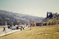 RB02 ORIGINAL KODACHROME 1960s 35MM SLIDE REST STOP STATION WAGON TRUCK CALIFORN
