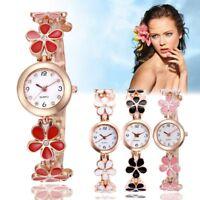 Fashion Women Flower Round Dress Watch Quartz Analog Bracelet Wrist Watches NEW