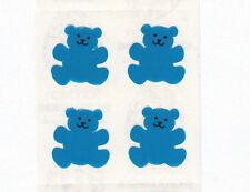 Rare Vintage Sandylion Neon Blue Teddy Bear Sticker Mod