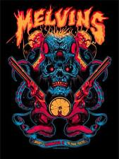 MELVINS Indianapolis 2018 silkscreened poster by Zombie Yeti