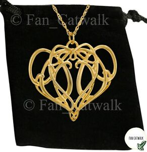 Elrond Necklace LOTR Elven King Arwen Lord of the Rings Rivendell Elf Gold