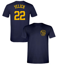 Christian Yelich T-Shirt Shirsey Milwaukee Brewers MLB Soft Jersey #22 (S-3XL)