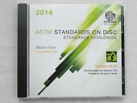 ASTM Volume 04.07 Building Seals Sealants Fire Standards Dimension Stone 2014CD