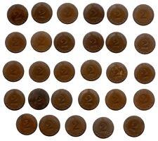 2 Pfennige 28 Kupferstücke 1958-1968)   wenig Doppelte meistens ss.