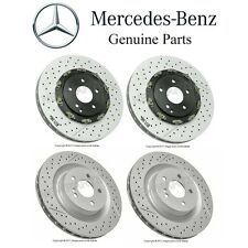 Mercedes R171 W209 Set of 2 Front & Rear Disc Brake Rotors Kit Vented Slotted OE