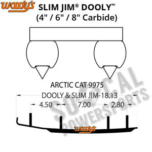 """Woodys Dooly 4"""" Carbide Runner Arctic Cat XF 800 SnoPro High Country (2012-2013)"""