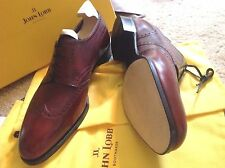 NEW John Lobb Oxford Shoes The Plaza UK US 10.5 11.5 12 Red Museum Calf w/  Tree