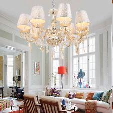 Elegant Crystal Chandelier Modern 8 Ceiling Light Lamp Pendant Fixture Lighting