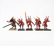 WARHAMMER FANTASY ARMY DAEMONS OF CHAOS BLOODLETTERS PART PAINTED  DOC22