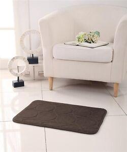 Memory Foam Bath Mat/rug : 17 X 24, Non-slip Backing, Circle Design, Chocolate