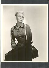 GINGER ROGERS LOOKS TROUBLED - RICHEE PHOTO FOR NOIR FILM STORM WARNING - REAGAN