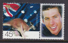 2001 Goodwill Games MUH Personalised Stamp with Tab - Grant Hackett