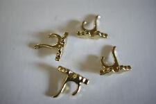 4 x 1/12th Miniature Brass Coat Hooks