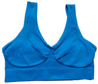 Womens Ladies Seamless Crop Top Comfort Bra Sports Gym Vest Stretch Shapewear UK