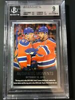2015-16 SP Authentic Connor McDavid Taylor Hall Authentic Moments Graded BGS 9