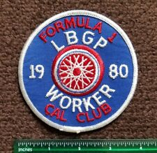 RARE Formula 1 Long Beach Grand Prix 1980 WORKER uniform PATCH