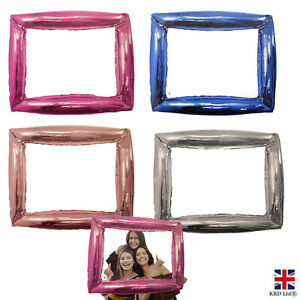 Giant Inflatable Photo Frame Foil Balloon Selfie Booth Prop Hen Party Wedding UK