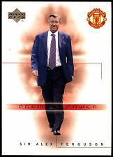 Sir Alex Ferguson Man. United #75 Upper Deck 2001 Football Trade Card (C361)