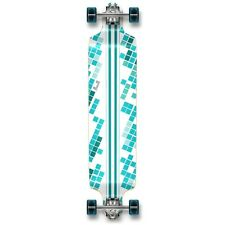 White Digital Wave Drop Down Complete Longboard Professional Cruise skateboard