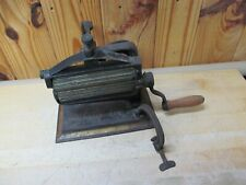 1875 Crown Cast Iron Pleater Crimping Fluting Press for Laundry Antique
