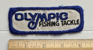 Olympic Fishing Tackle Blue White Embroidered Patch