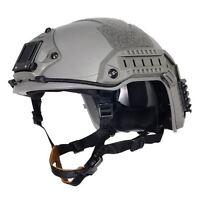 AIRSOFT OPS GREEN OD FG SWAT TACTICAL MARITIME ABS HELMET JUMP RAIL L/XL