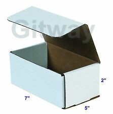 50 7x5x2 White Corrugated Carton Cardboard Packaging Shipping Mailing Box Boxes
