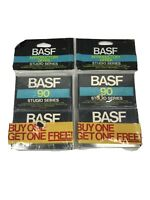 BASF 90 Studio Series Cassette Tapes Lot of 4 Sealed Tapes