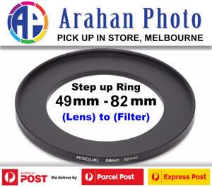Step Up Ring 49-82Filter Lens Adapter 49mm Filter to82mm Lens