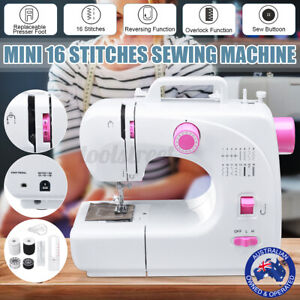 16 Stitches Electric Sewing Machine Multi-Function Portable Overlock Desktop