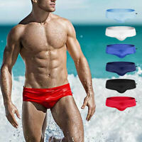 Men's Swim Briefs Bikini Sexy Low Rise Swimwear Swimming Beach Shorts Trunks