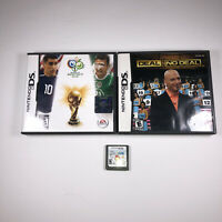 Nintendo DS Lot Of 3 Games 2006 FIFA World Cup & Deal Or No Deal & Scribblenauts