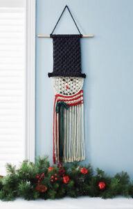 Mary Maxim Snowman Macrame Wall Hanging Kit