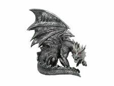 Nemesis Ornament Obsidian Dragon Figurine Black 28x27cm